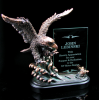 Bronze Eagle Soaring W/ Glass Panel Bronze Glass Insert Series
