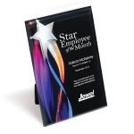 Streaming Star Lucite Plaque with Hanger/Easel Achievement Awards