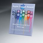 Thick Lucite Wall Plaque with Custom Digi-Color Colored Acrylic Awards