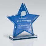 Star Double Layer Cutout on Base Colored Acrylic Awards
