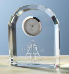 Faceted Arch Clock Desk Clocks