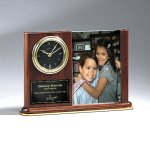 Walnut Piano Photo Holder and Clock Employee Awards