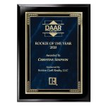 Ebony Finish Plaque with Marble Mist Employee Awards