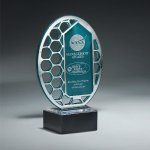 Reflective Excellence Oval with Silver Mirror Employee Awards
