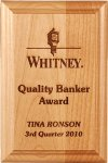 Genuine Alder Wood Plaque Employee Awards