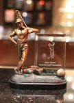 Bronze Golfer W/ Glass Insert Golf Awards