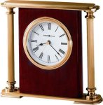 R3104 - High Gloss Rosewood Finish and Brass Award Clock Mantle Clocks