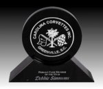R0308 - Black Marble Disk Award Marble Plaques
