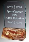 R0307 - Glass and Amber Onyx Award Marble Plaques