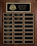 Genuine Walnut 24-Plate Pearl or Blue Border Plaque Medium Perpetual Plaques
