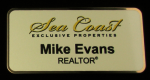 Sea Coast Rectangle Nametag Nametags
