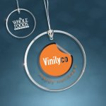 Clear Glass Beveled Circle Ornament Ornaments