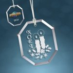 Clear Glass Beveled Octagon Ornament Ornaments