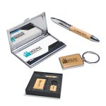 Maple Gift Set - Pen - Keychain - & Business Card Holder Pens and Pencils