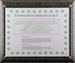 R2703 - Eco Friendly Certificate Plaque Recognition Plaques