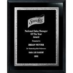 Florentine Edge Plate on Ebony Board Recognition Plaques