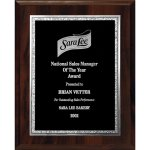 Florentine Edge Plate on Walnut Finish Board Recognition Plaques