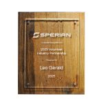 Reclaimed Wood Plaque - 10.5 X 13 Recognition Plaques