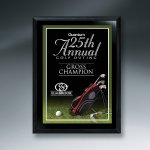Ebony Finish Golf Plaque Sales Awards