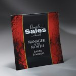 Craquelure Glass Lasered Tray with Easel Stand and Wall Mount Sales Awards