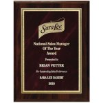 Red Marble Florentine Plate on Walnut Finish Board Sales Awards