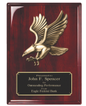 Rosewood Piano Finish Plaque with Eagle Casting Sales Awards