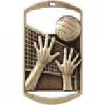 Dog Tag Medals -Volleyball Volleyball Trophy Awards